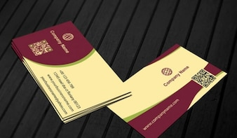 Original business card template with infographic