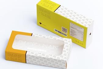 Упаковка макете дизайн