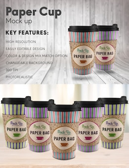 Paper cup mock up