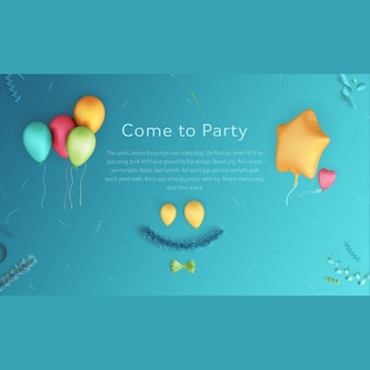 Party scene mock up