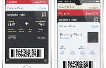 Passbook Iphone template PSD