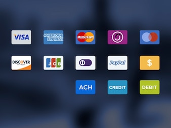 Payment options PSD icons
