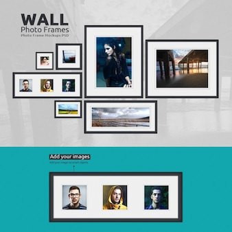 Photo frames mock up design
