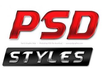 グローバルフォント 金属製のフォント : Photoshop Text Styles