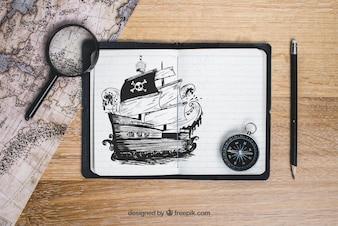 海賊ボートのコンセプト
