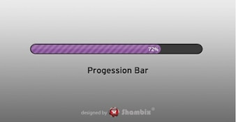 pretty purple progress bar interface psd