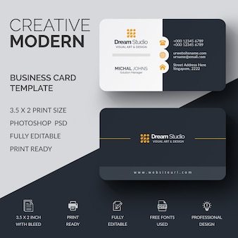 Professional business card mockup
