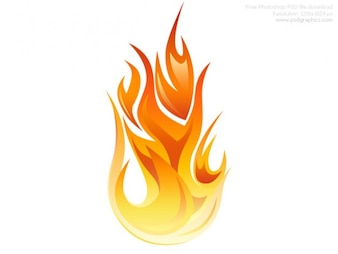 PSD flame icon