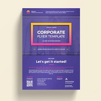 Фиолетовая бизнес-брошюра