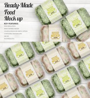 Ready-made food mock up