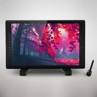Realistic digital tablet presentation