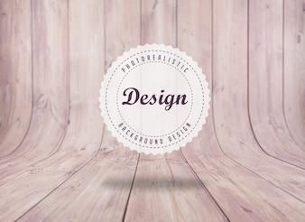 現実的な床板の背景デザイン