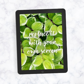 Realistic ipad screen mock up