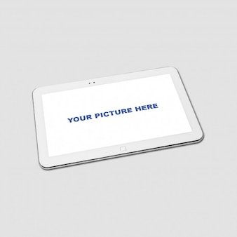 Realistic tablet mockup