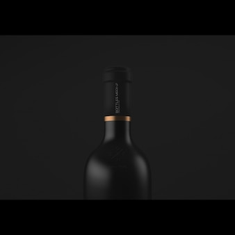 Realistic wine bottle presentation