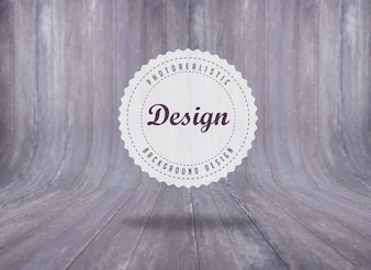 Realistic wood background design