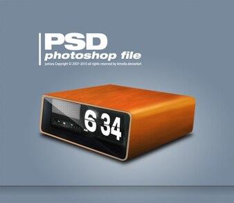 レトロな時計は、PSD