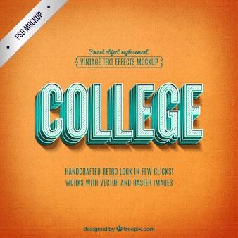 Retro college lettering
