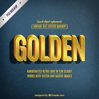 Retro golden lettering