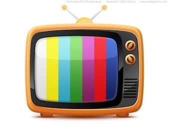Retro TV icon (PSD)