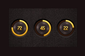 rich radial progress bars set psd