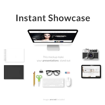 Screen devices mock up design