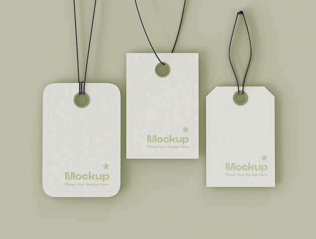 Set of label price tags mockup