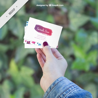 Several creative corporative card mockups