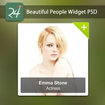 Sexy woman widget PSD