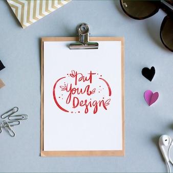 Sheet of paper template design