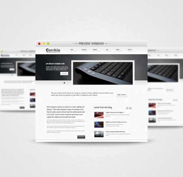 simple attractive preview window psd