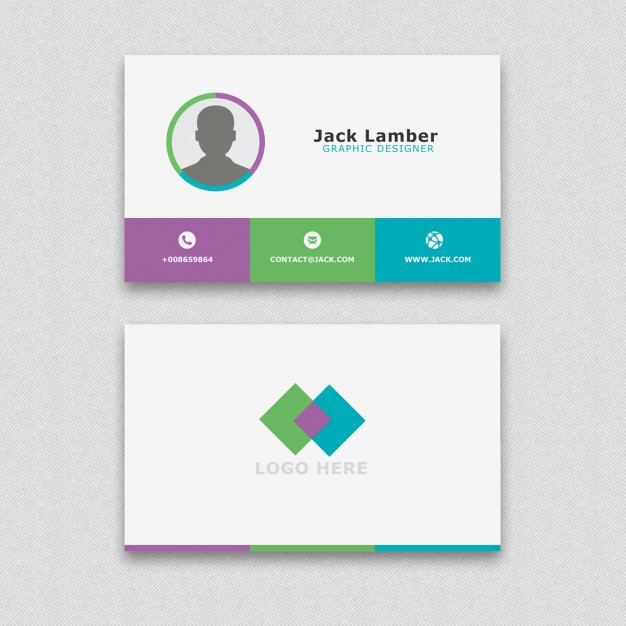 Simple business card with geometric shapes