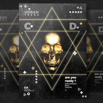 Skull flyer template