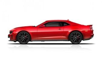 sleek red camaro zl sports car icon