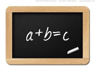 Small black chalkboard, PSD template