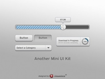 smooth grey mini web ui elements kit psd