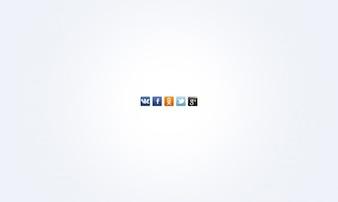 Social media PSD icons