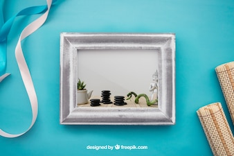 Spa concept mockup with frame