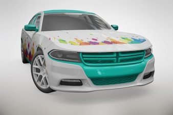Sport car mock up
