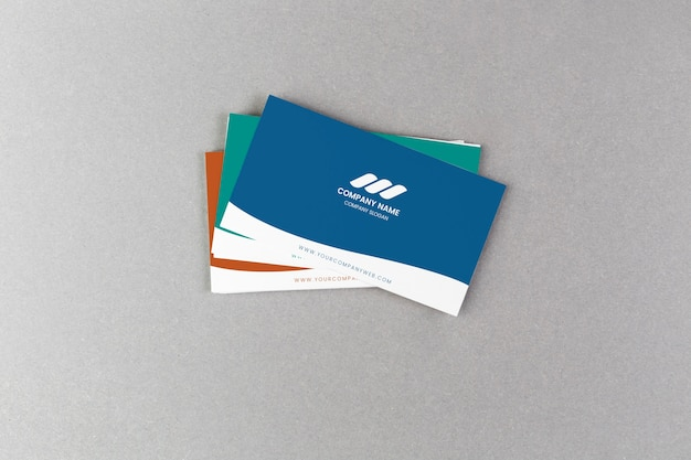 Stack on business cards