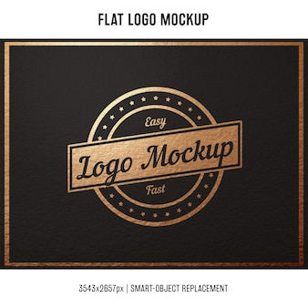 Stamped logo mock up
