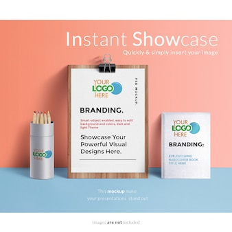 Stationery elements mock up