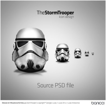 Stormtrooper icon psd file