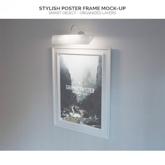 Stylish poster frame mock-up