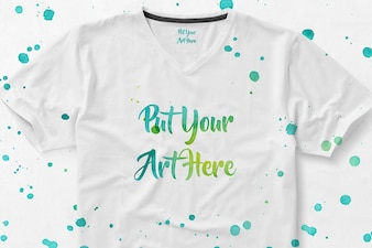T-shirt with paint mock up