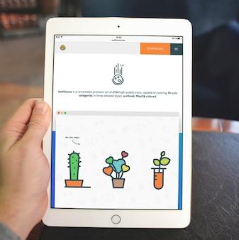 Tablet screen mock up design