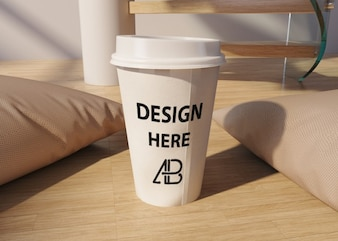 Take away coffee cup mock up