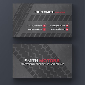 Tire print business card