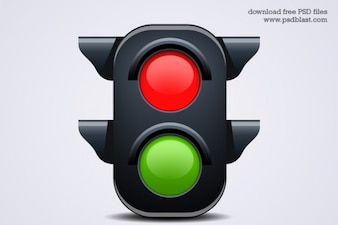 traffic light icon  psd