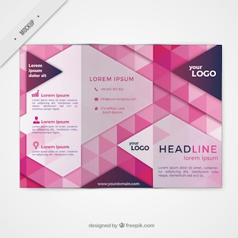 Trifold mockup in modern style
